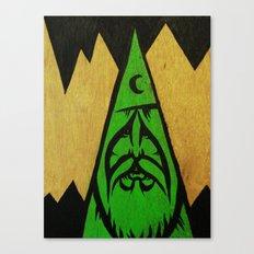wood wizard Canvas Print