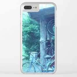 tall. attempts of humans on earth bicycling. #105 Clear iPhone Case
