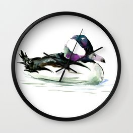 Bufflehead Duck Wall Clock