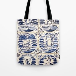 Dutch Delft Blue Tiles Tote Bag