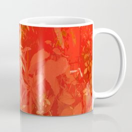 Beautiful red foliages - illustration of garden Coffee Mug