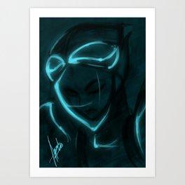 Alien girl Art Print
