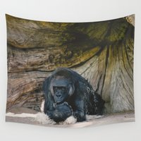 gorilla Wall Tapestries featuring Gorilla by Retro Love Photography