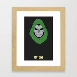 Dr. Doom - Foot Dive Framed Art Print