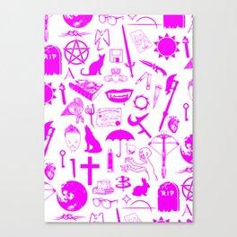 Buffy Symbology, Pink Canvas Print