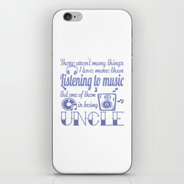 Listening to Music Uncle iPhone Skin
