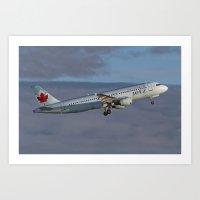 Air Canada JETZ A320 Art Print