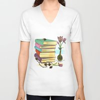 books V-neck T-shirts featuring Books by famenxt