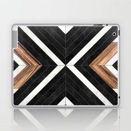 Urban Tribal Pattern No.1 - Concrete and Wood Laptop & iPad Skin