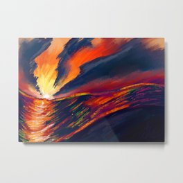 called upon the water Metal Print