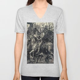 Albrecht Durer Knight Death And Devil Unisex V-Neck