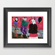 Balloons Partisan Framed Art Print