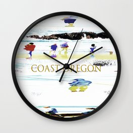 Coast Oregon Wall Clock