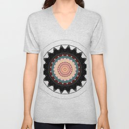 Mandala blossom / centro Unisex V-Neck