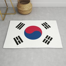 South Korean flag - officially the Republic of Korea, Authentic version - color and scale Rug