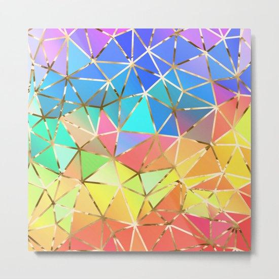 Rainbow geometric #10 Metal Print