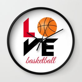 Love basketball Wall Clock