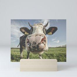 Inquisitive Cow Mini Art Print