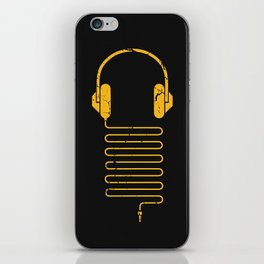 Gold Headphones iPhone Skin
