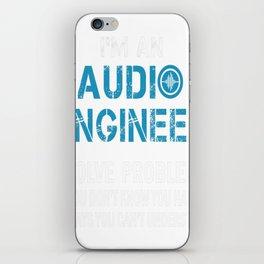 AUDIO ENGINEER Tshirt iPhone Skin