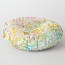 Rainbow River Rocks Floor Pillow