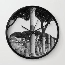 Ostia ruins Rome Italy Wall Clock