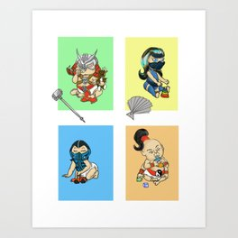 Mortal Kombat Kids Art Print
