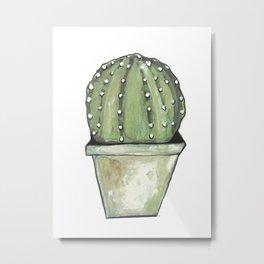 Cactus cirkel Metal Print