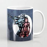 garrus Mugs featuring No Shepard Without Vakarian by Weissidian