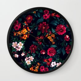 The Midnight Garden Wall Clock