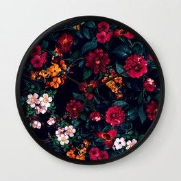 The Midnight Garden Wall Clock