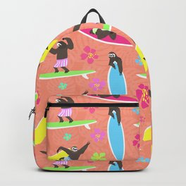 Surfing Sloths Backpack