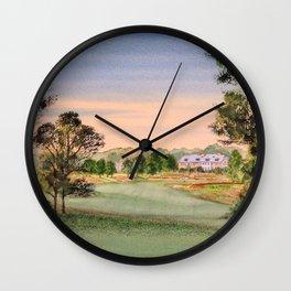 Hamilton Farm Golf Club Highlands Course 18th hole Wall Clock
