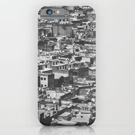 Cityview Medina Fés, Morocco. Black and White Fine Art Travel Print. Wall Art. iPhone Case