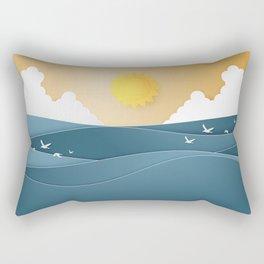 The joy of cloudspotting - paper cut series -  Rectangular Pillow