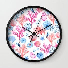 Coral Sea Wall Clock