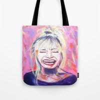 allyson johnson Tote Bags featuring Betsey Johnson by AntiPosi