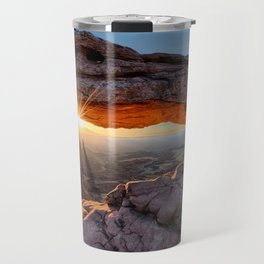 Mesa Arch Sunburst  by Lena Owens Travel Mug