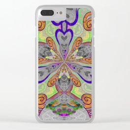 Magical Mystery Tapestry Print Clear iPhone Case