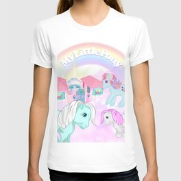 vintage g1 my little pony tribute collage T-shirt