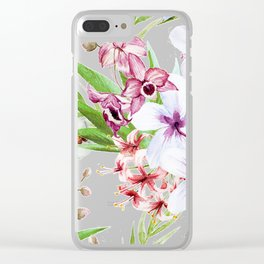 Tropical Floral Pattern 06 Clear iPhone Case