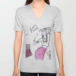 Let's Twist  Unisex V-Neck