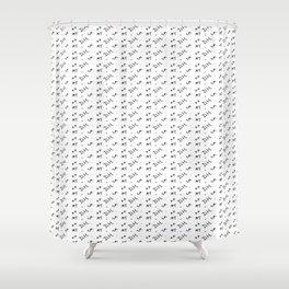 Teen Wolf - Initial Pattern Shower Curtain