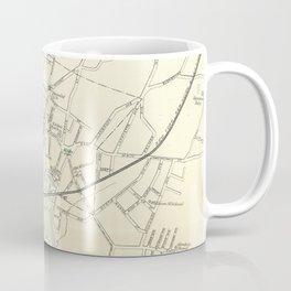Vintage Map of Stamford CT (1893) Coffee Mug