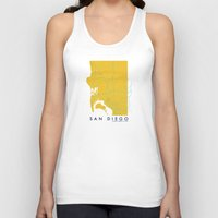 san diego Tank Tops featuring San Diego Map by Roadtrippers
