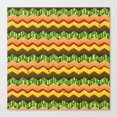 Cheeseburger Chevron Canvas Print