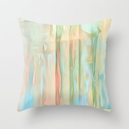 Streaks Of Colors Abstract - Pastel Throw Pillow