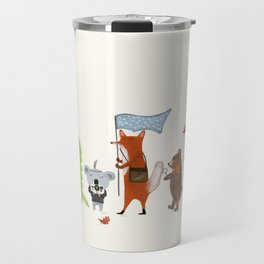 lets all go exploring Travel Mug