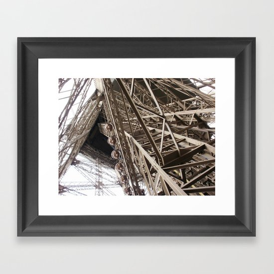 Eiffel Tower Ironwork Framed Art Print