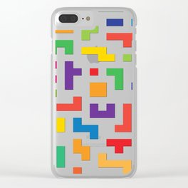 Tetris Blocks Clear iPhone Case